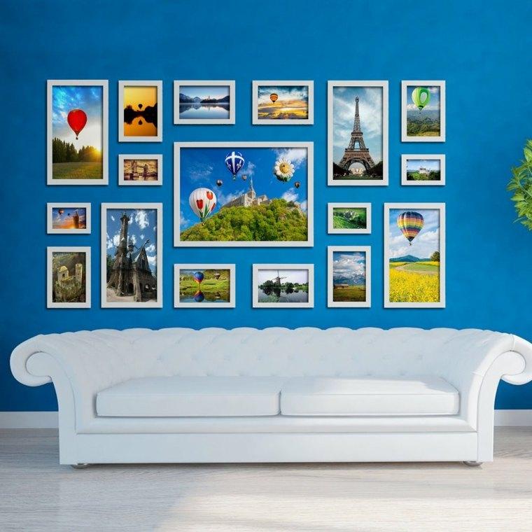 Decorar con marcos de fotos las paredes - Marcos para decorar ...