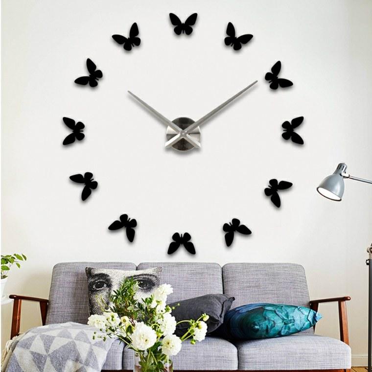 Decorar con papel las paredes de casa - Relojes para decorar paredes ...