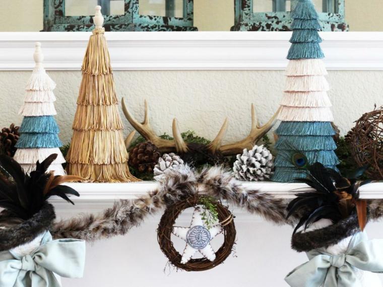 decorar en navidad chimeneas