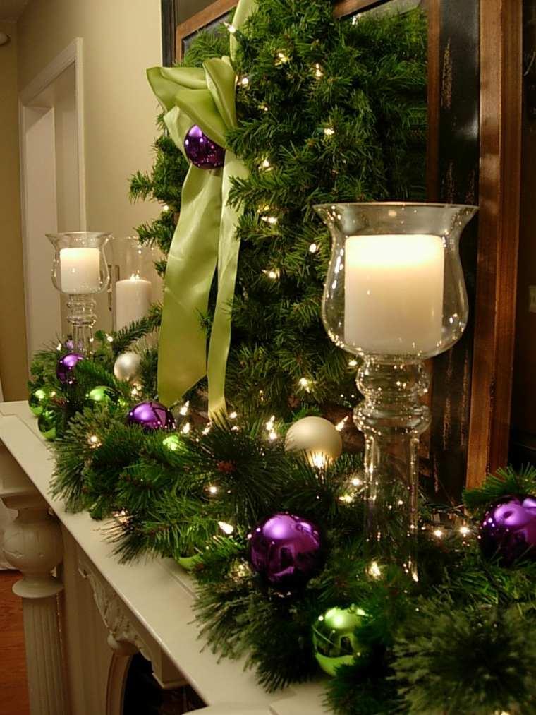 decorar en navidad espejos