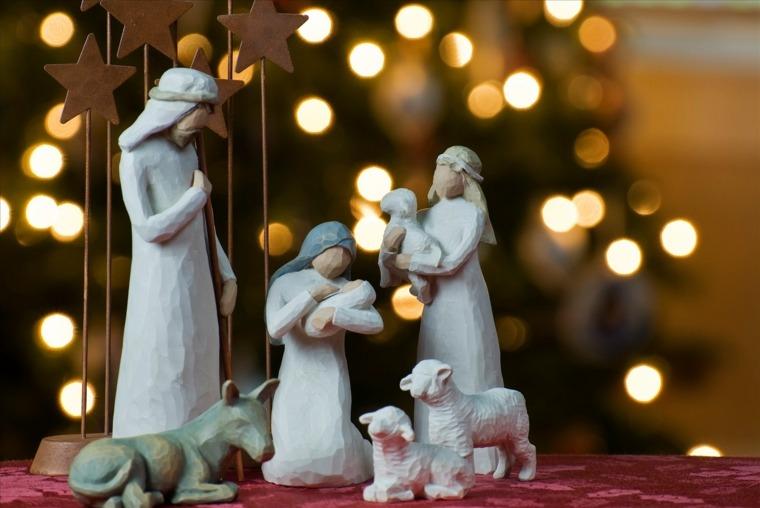 decorar en navidad interior salón
