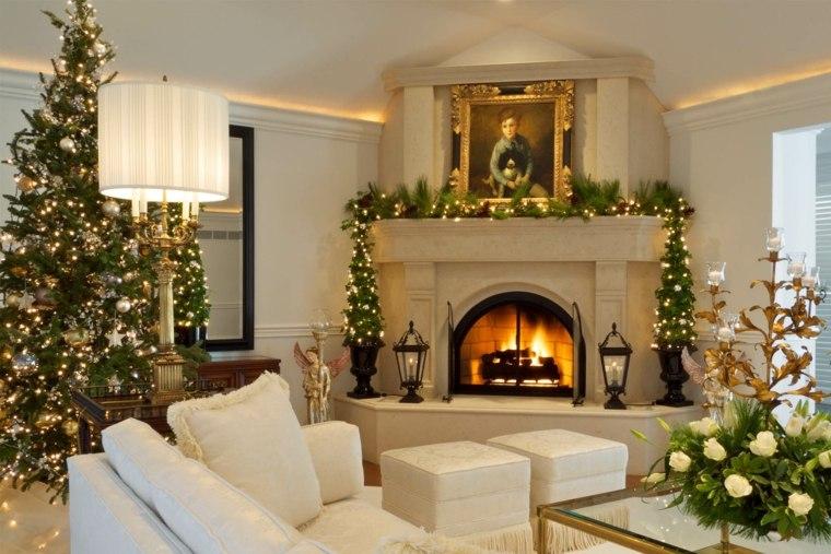 Decorar en navidad el interior de casa - Como decorar un salon para navidad ...