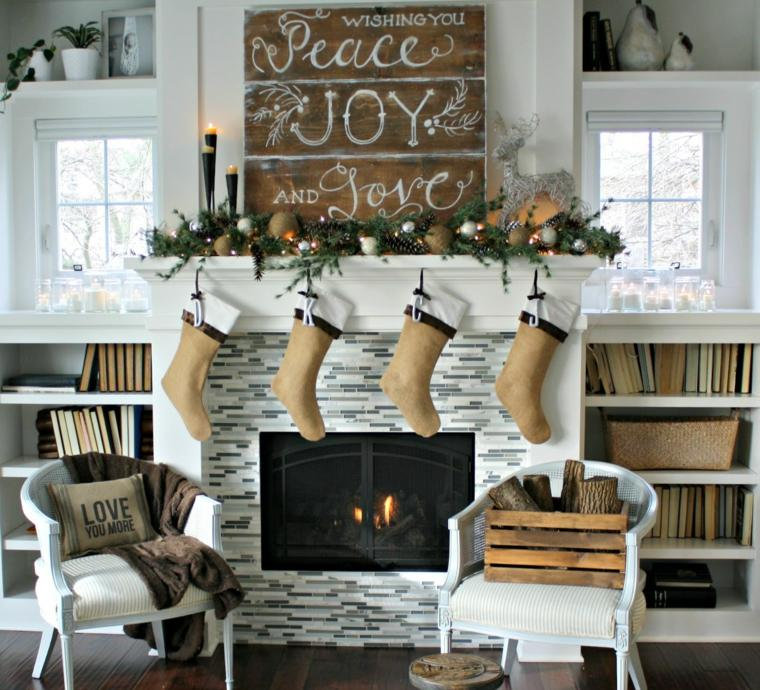 decorar en navidad salones