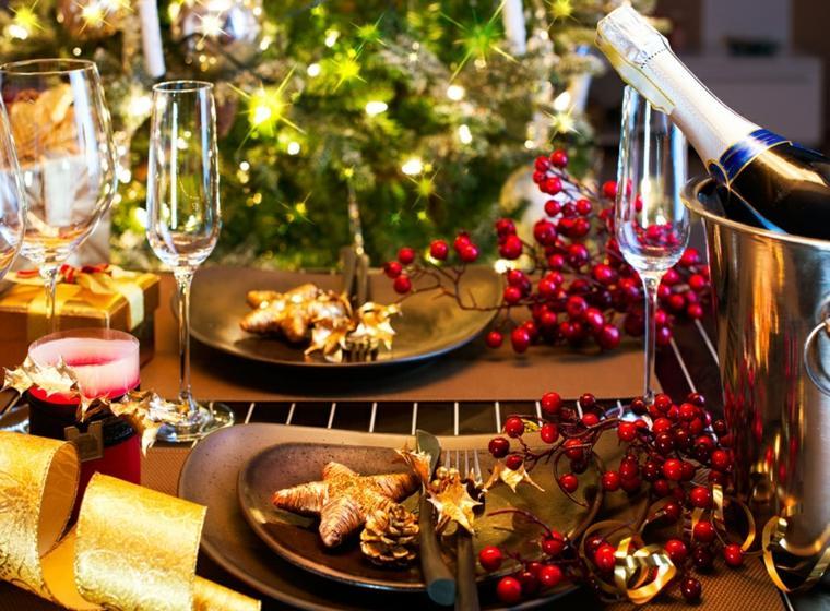 decorar en navidad mesa