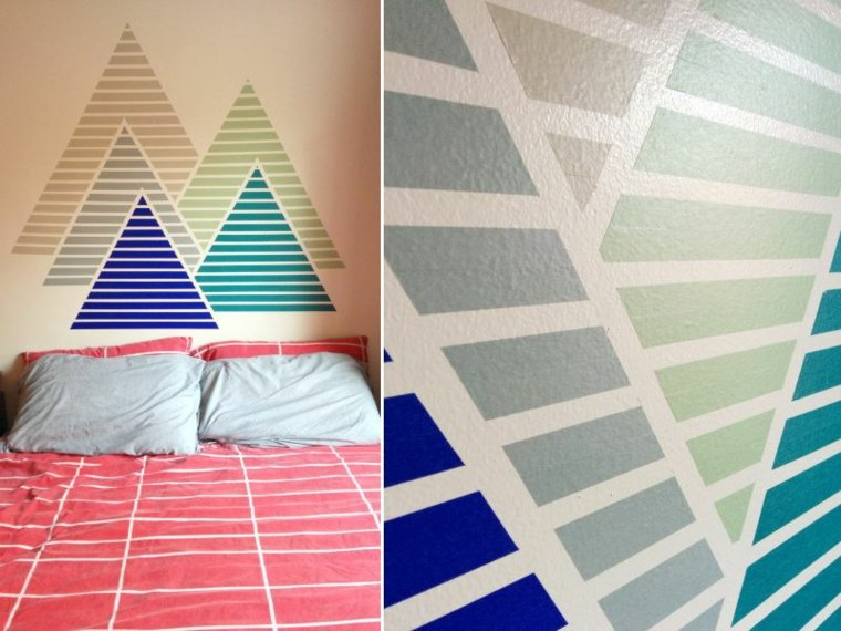 decorar pared cinta washi tape