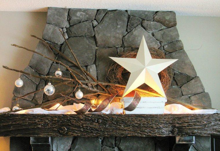 decorar para navidad interior chimenea