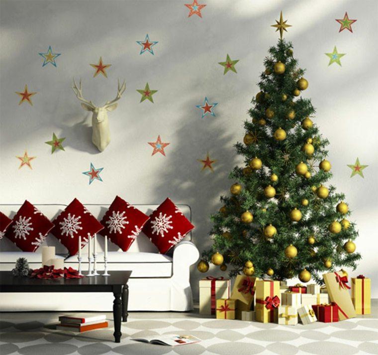 decorar para navidad sala de estar