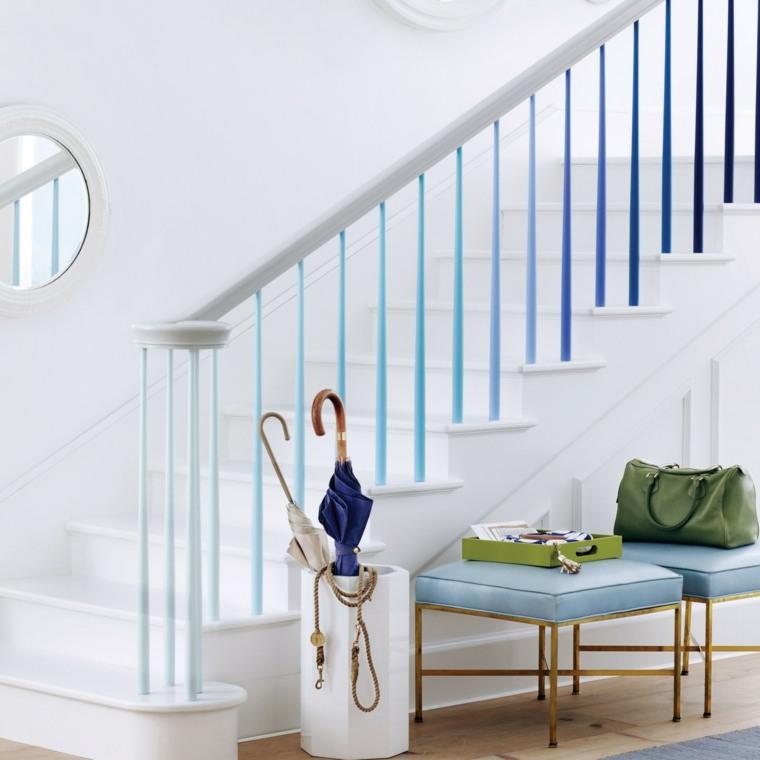 decorar pasillos estrechos escaleras