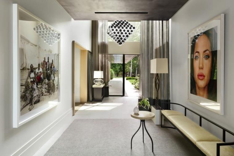 Decorar pasillos estrechos con diferentes ideas y estilos - Decoracion de paredes de pasillos ...
