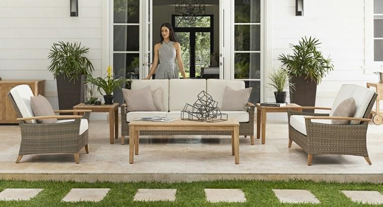Decorar porche e ideas de muebles de exterior modernos - Ideas para decorar un porche cerrado ...