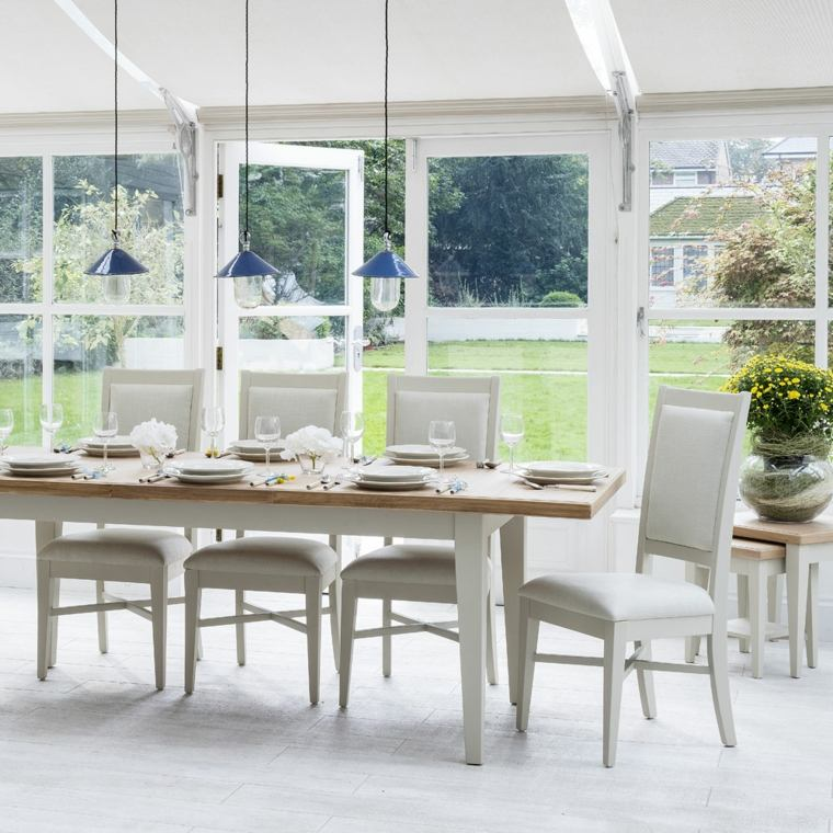 decorar porche muebles blancos estilo clasico ideas
