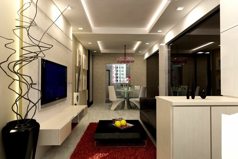 Stunning Diseño Salon Comedor Rectangular Gallery - Casa & Diseño ...