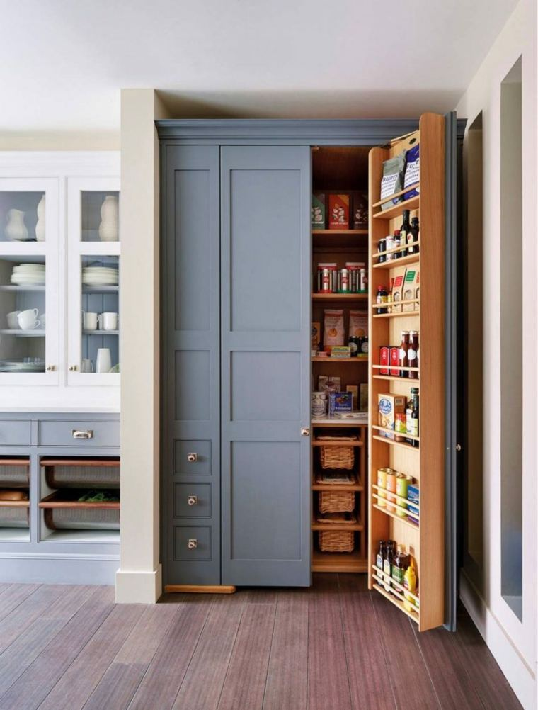 Despensas de cocina para ganar espacio for Con que limpiar los armarios de la cocina