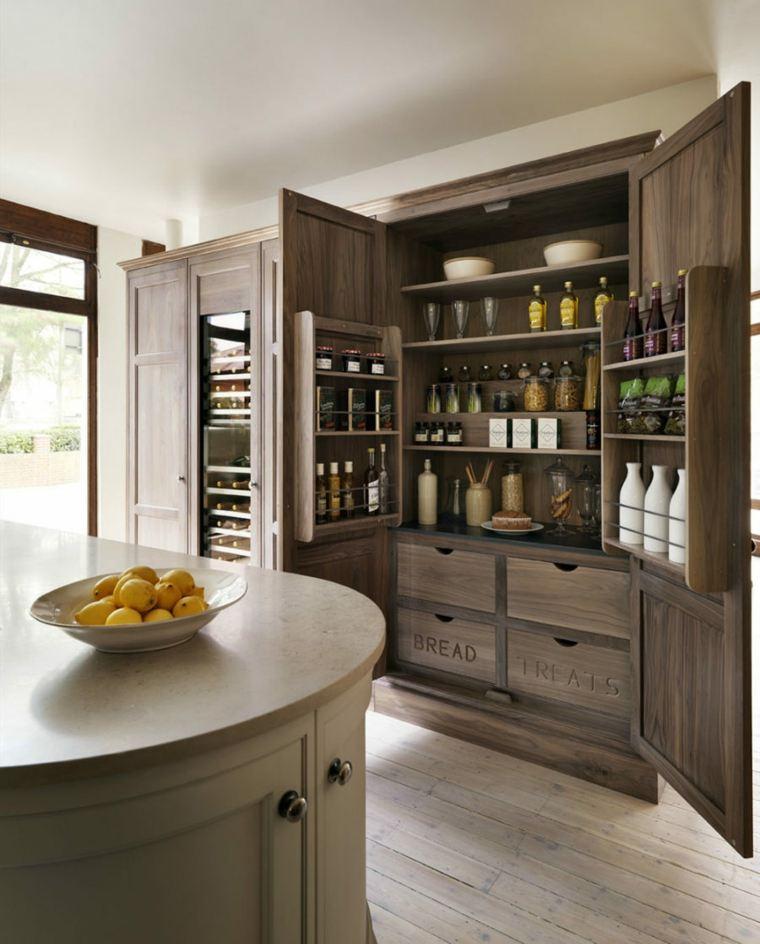 unos muebles modernos para las cocinas con poco espacio
