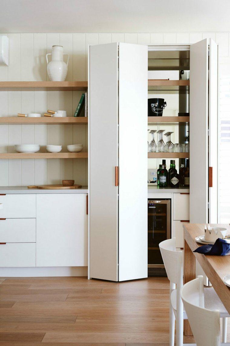 despensas de cocinas blancas