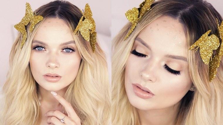 diosa griega maquillaje brillante halloween ideas