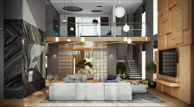 diseño interior marmol paredes elegante