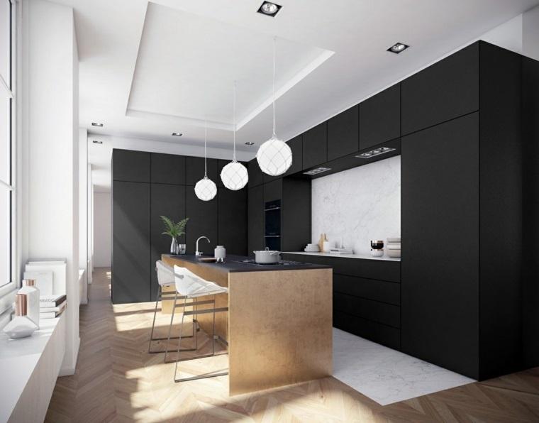 Dise ar cocinas elegantes con muebles de color negro for Disenar muebles de cocina online