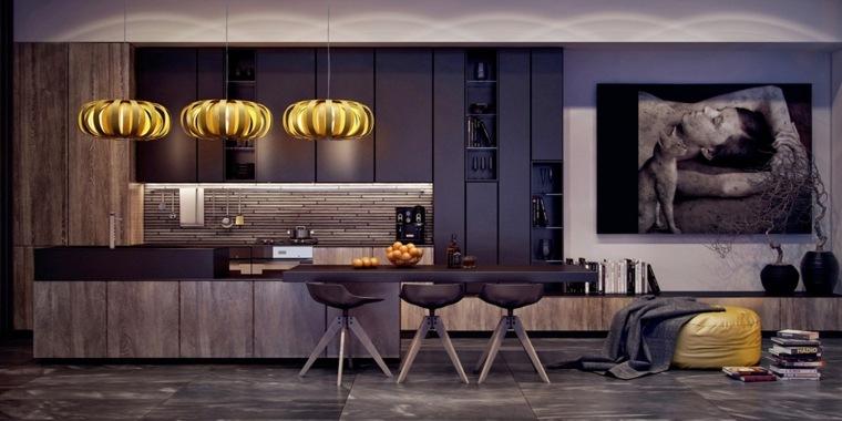 disenar cocina muebles lamaparas lujosas ideas