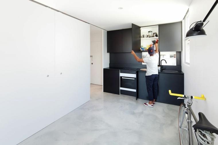 diseno cocina moderna negra funcional