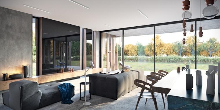 Diseño de interiores con accentos de hormigón