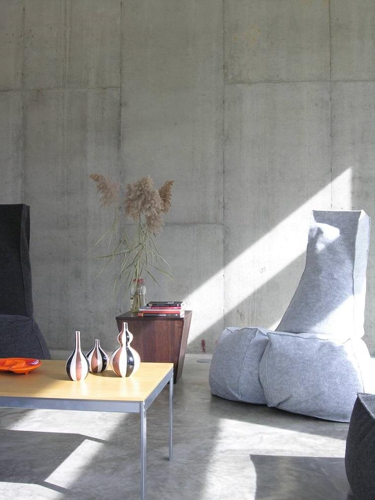 diseno de interiores accentos hormigon sillon moderno ideas