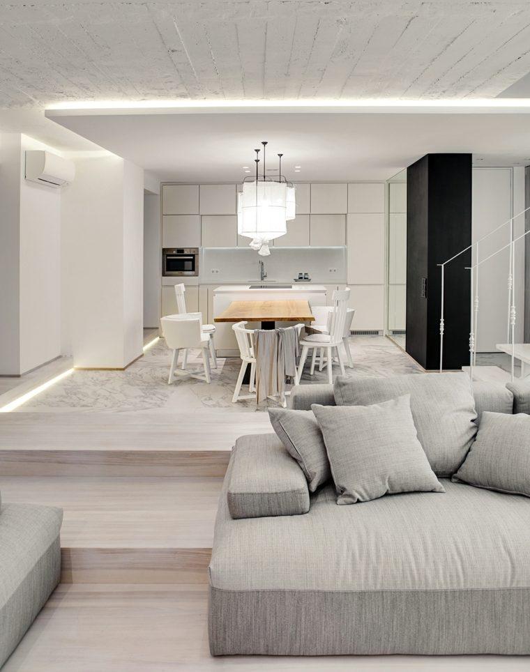 Dise o de interiores con accentos de hormig n for Diseno interior moderno