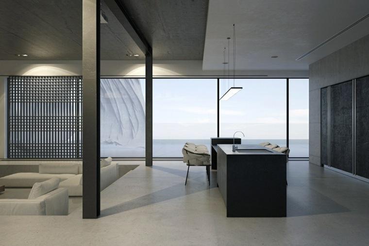 diseno de interiores apartamento amplio luminoso ideas