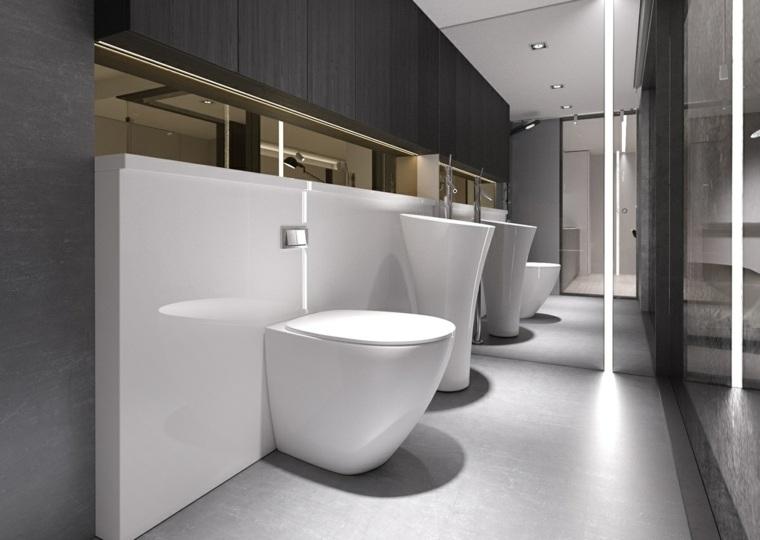 Baños Diseno Minimalista:Diseño de interiores al estilo minimalista con toque industrial