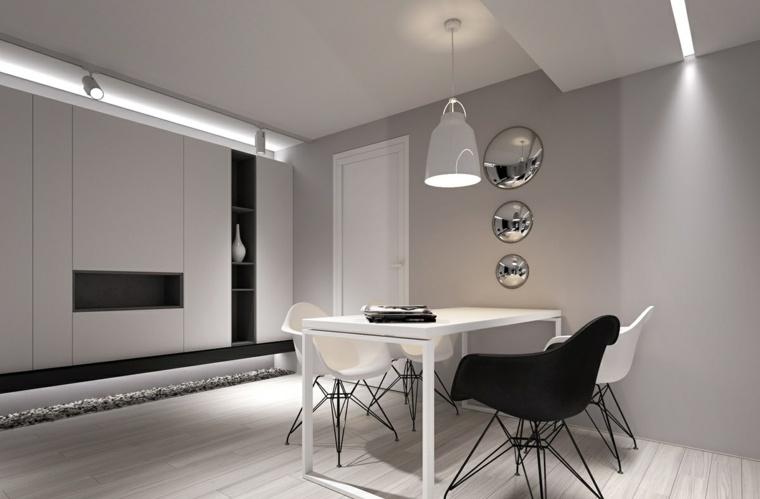 Dise o de interiores al estilo minimalista con toque for Diseno de modulares para comedor