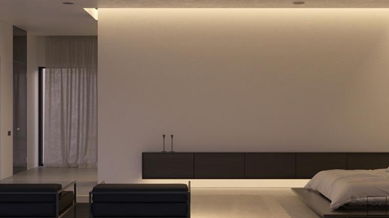 diseno de interiores dormitorio amplio minimalista ideas