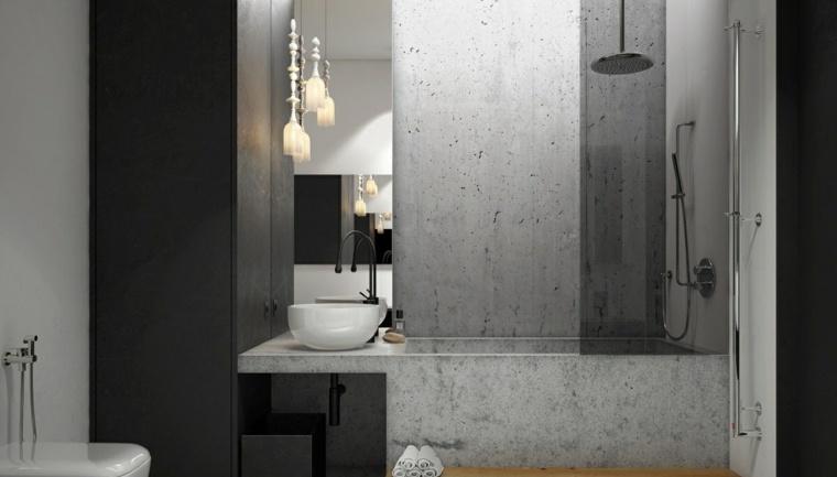 diseno de interiores paredes estilo industrial marmol ideas