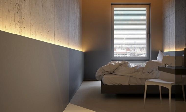 diseno de interiores paredes dormitorio minimalista