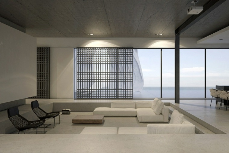 Diseo de interiores al estilo minimalista con toque industrial