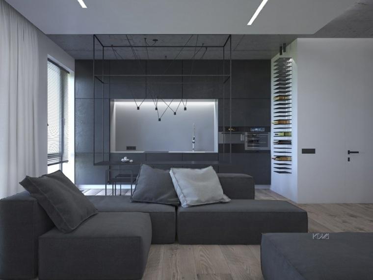 diseno de interiores sofas modulares salon diseno ideas