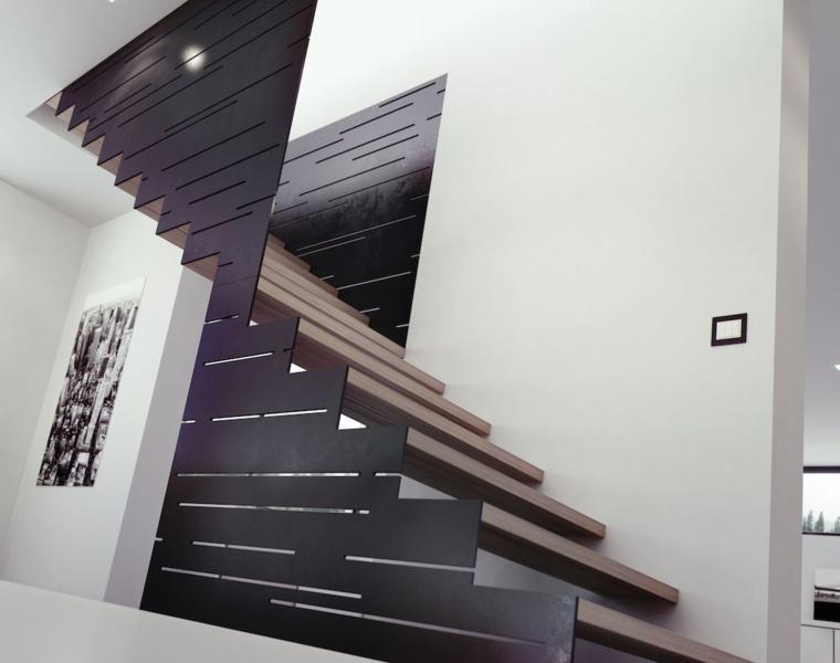 diseo escalera estilo moderno