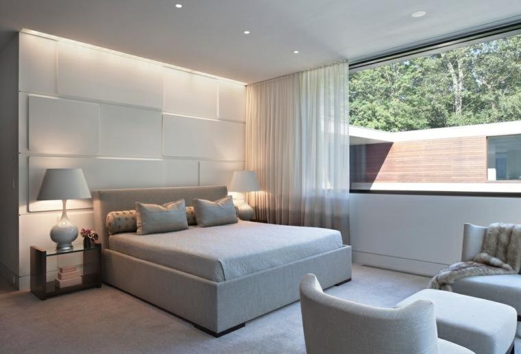 diseno habitacion estilo minimalista gris