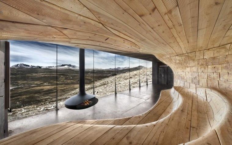 diseno interior madera estilo futurista
