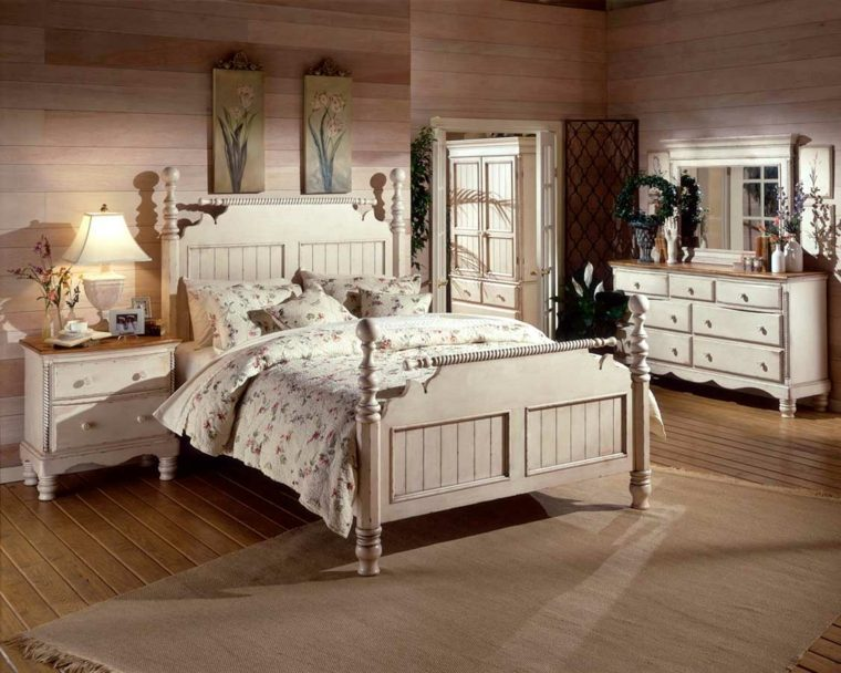 diseno neutral dormitorio cama madera blanca ideas