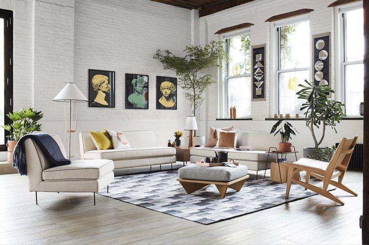 diseno original salon muebles madera espacios amplios ideas