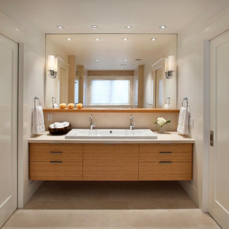 diseño original baño madera