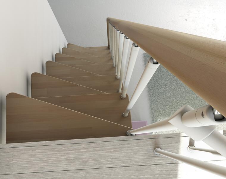 diseño original escalera estrecha