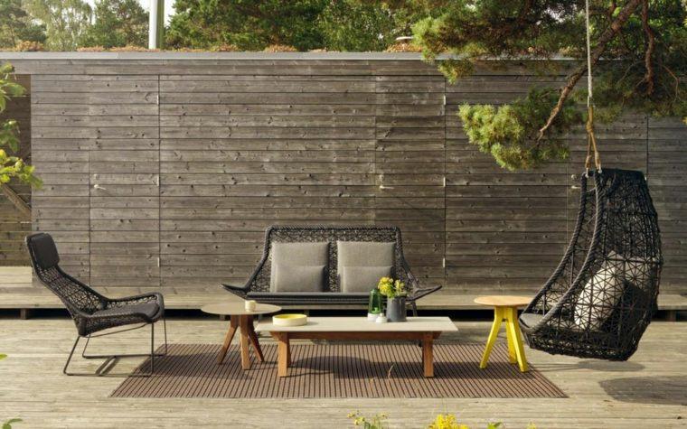 decorar porche diseno patricia urquiola muebles porche originales ideas