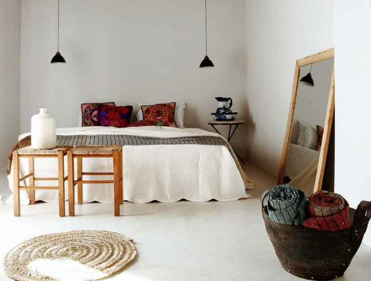 diseno simple detalles bohemios dormitorio ideas