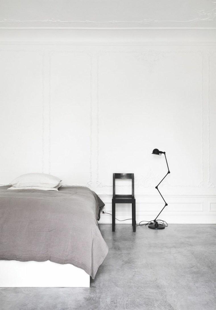diseno simple dormitorio suelo hormigon ideas