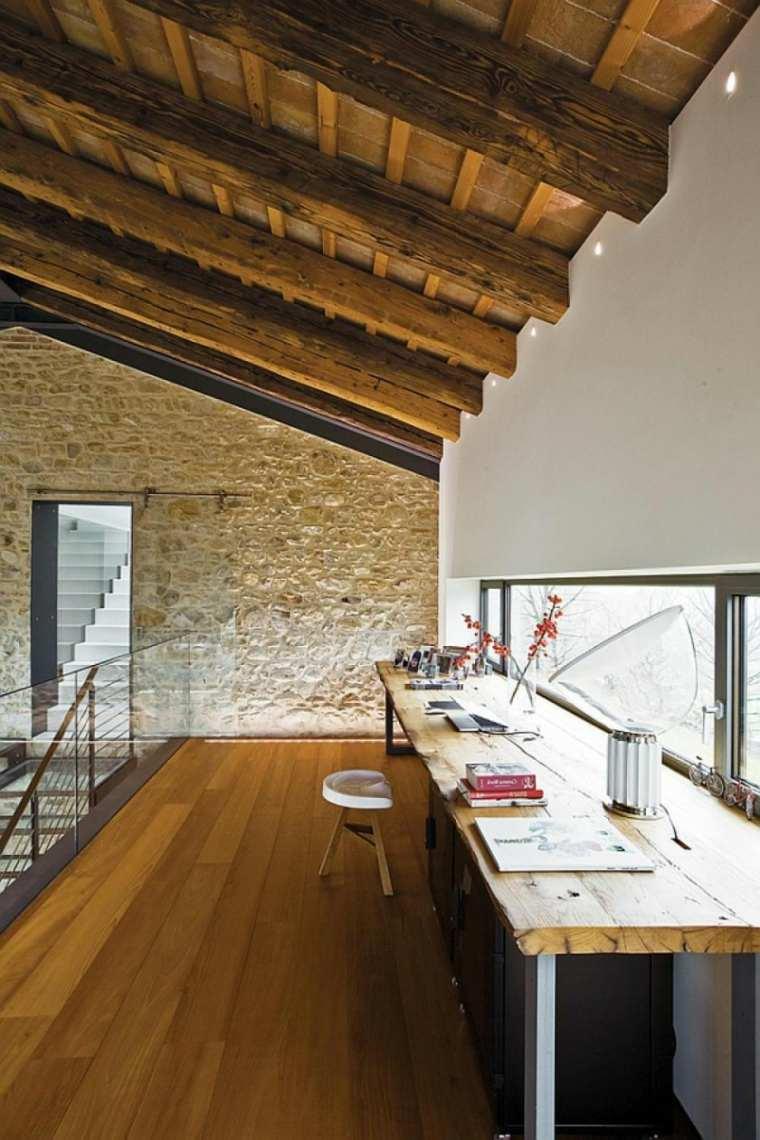 diseno techo madera estilo rústico