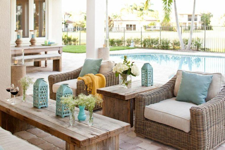 Decorar porche e ideas de muebles de exterior modernos