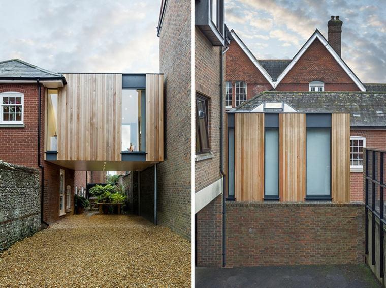 diseño moderno casa jardin Adam Knibb Architects