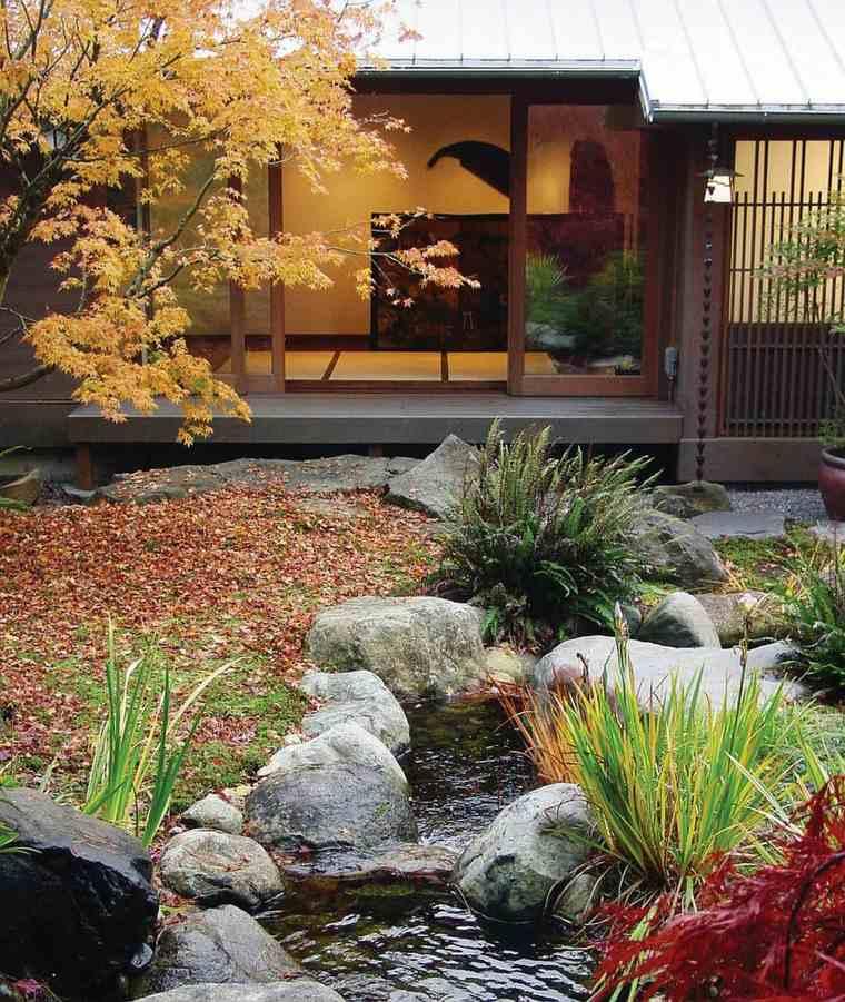 original diseño estanque jardín japones