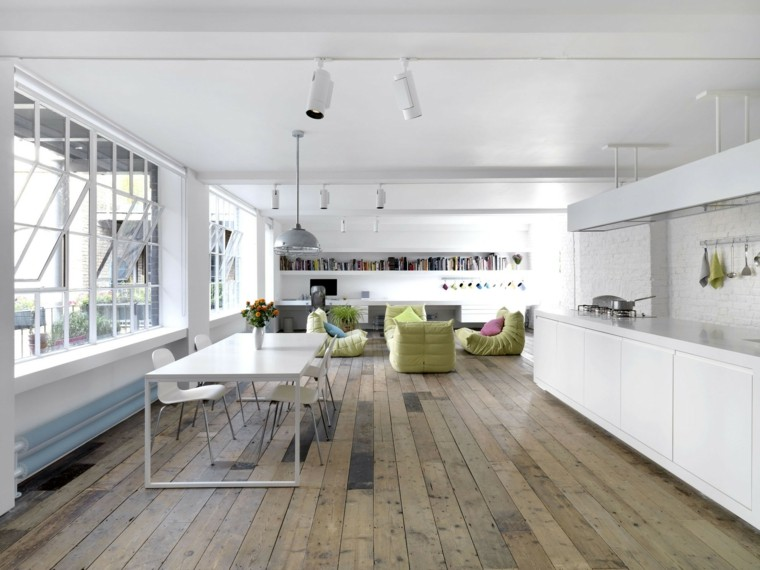 diseno interior moderno cocina blanca